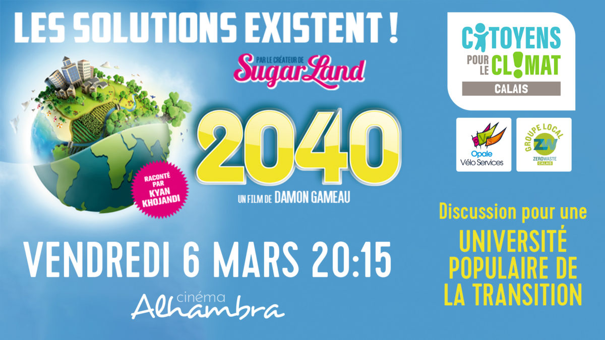 Projection-débat du film documentaire 2040 à l'occasion du lancement de l'Université populaire de la Transition