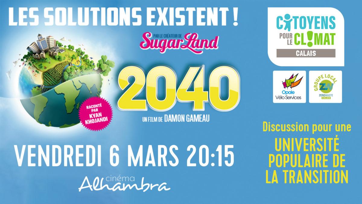 Projection-débat du film documentaire 2040 à l'occasion du lancement de l'Université populaire de la Transition