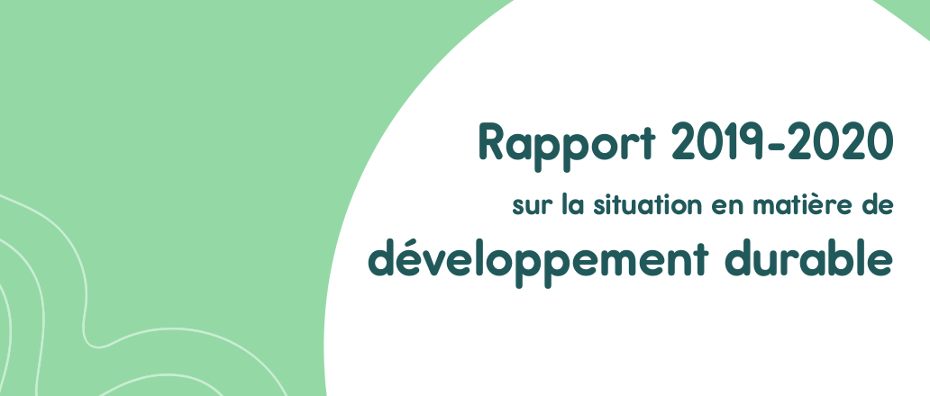 Première page du rapport développement durable 2019-2020 de Calais